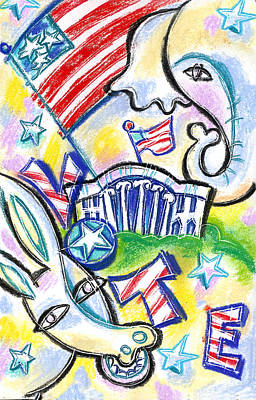 Voting For Political Party Original by Leon Zernitsky