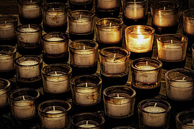 Photograph - Votive Prayer Candles by Stuart Litoff