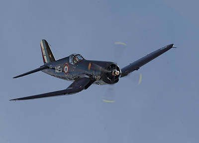 Fighter Aircraft Photograph - Vought Corsair by Pat Speirs