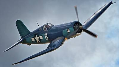Planes Of Fame Photograph - Vought F4u Corsair 2011 Chino Air Show by Gus McCrea