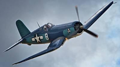 Vought F4u Corsair 2011 Chino Air Show Original by Gus McCrea
