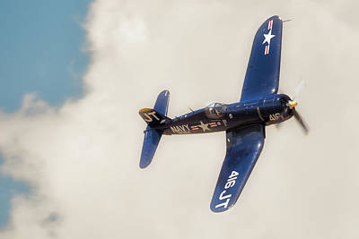 Photograph -  Vought F4u Corsair by Norman Peay