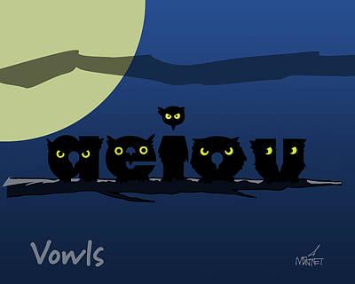 Vowls Art Print