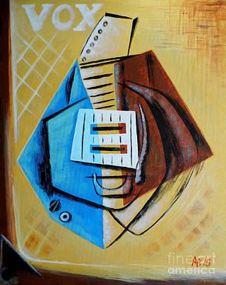 Vox Painting - Vox Pops Guitar by Bik Erbrom