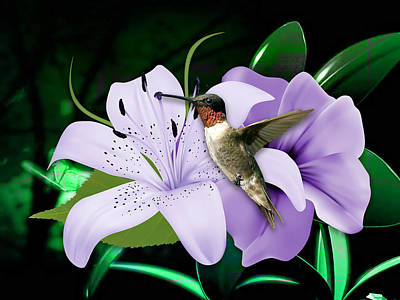 Mixed Media - Voyage Hummingbird by Marvin Blaine