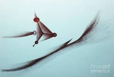 Intergalactic Space Drawing - Voyage by Samiksa Art