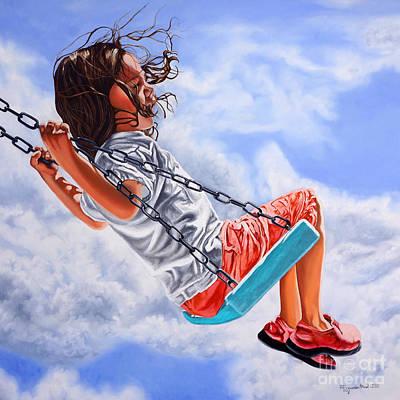 Painting - Voyage To Freedom- Viaje A La Libertad by Rezzan Erguvan-Onal