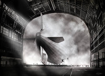 Zeppelin Digital Art - Voyage To Infamy by Peter Chilelli