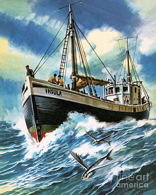 Caribbean Sea Painting - Voyage To The Spanish Main by Wilf Hardy