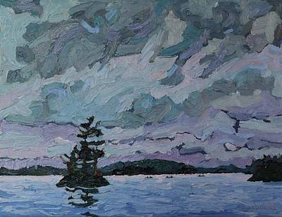 Voyageurs Painting - Voyageur Vist by Phil Chadwick