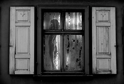 Photograph - Voyeurism - Nude In Window by Andrea Kollo