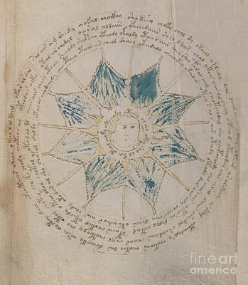 Photograph - Voynich Manuscript Astro Sun Central 2 by Rick Bures