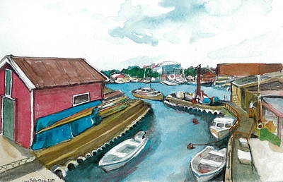 Art Print featuring the painting Vp Norway 5 Thorsastraen by Lynn Babineau