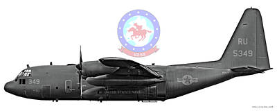 C-130 Wall Art - Digital Art - Vr-55 C-130 by Clay Greunke