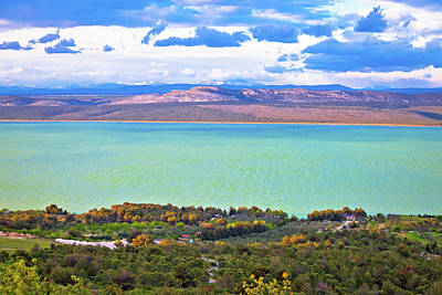 Photograph - Vransko Lake And Landscape Aerial View by Brch Photography