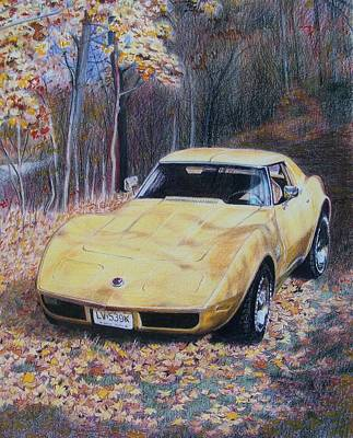 Art Print featuring the mixed media Vrooom by Constance Drescher