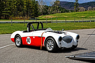 Photograph - Vscca Austin Healey 347 by Mike Martin