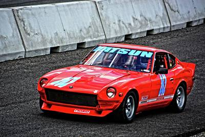 Photograph - Vscca Datsun 240z by Mike Martin