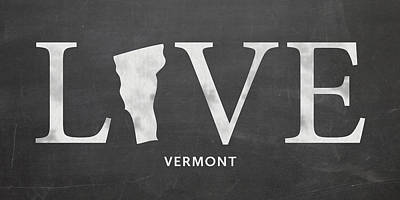 Vermont Mixed Media - Vt Love by Nancy Ingersoll