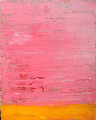 Art Print featuring the painting  Pink Oil On Board 16 X 20 by Radoslaw Zipper