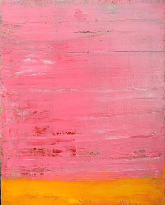 Pink Oil On Board 16 X 20 Art Print