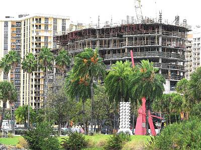 Photograph - Vue Construction Sarasota #1 by Strangefire Art Scylla Liscombe
