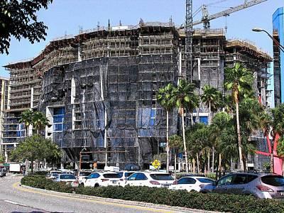 Photograph - Vue Construction Sarasota #4 by Strangefire Art Scylla Liscombe
