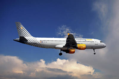 Barcelona Photograph - Vueling Airbus A320-214 by Nichola Denny
