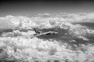 Photograph - Vulcan And Towering Clouds Bw Version by Gary Eason