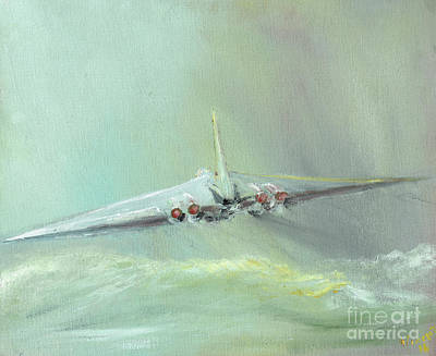 Jet Painting - Vulcan B1 Sortie by Vincent Alexander Booth