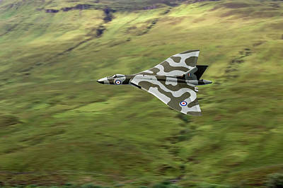 Photograph - Vulcan B2 Low-level Against Hillside by Gary Eason