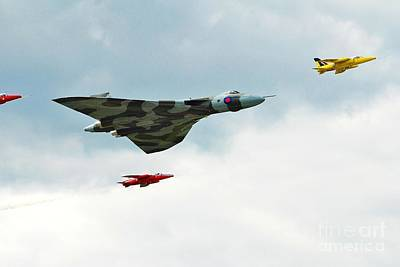 Photograph - Vulcan Bomber And Gnats by David Fowler