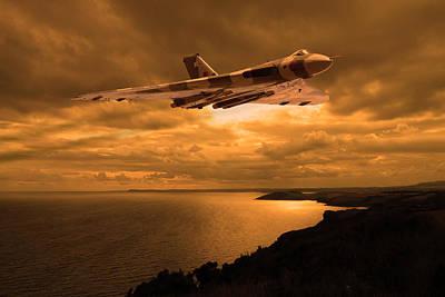 Photograph - Vulcan Bomber At Sunset by Ken Brannen
