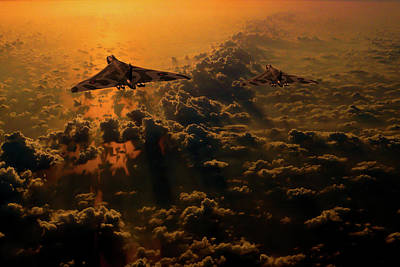Photograph - Vulcan Bomber Sunset by Ken Brannen