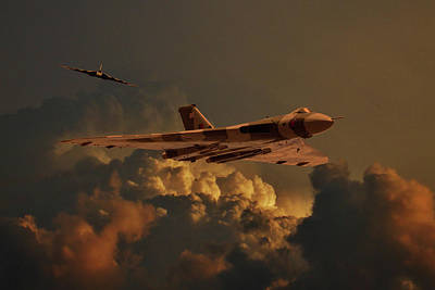 Photograph - Vulcan Bombers Into The Storm by Ken Brannen