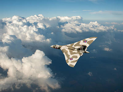 Photograph - Vulcan Catching The Light by Gary Eason