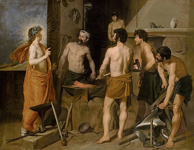 Vulcan Painting - Vulcan Forge by Diego Velazquez