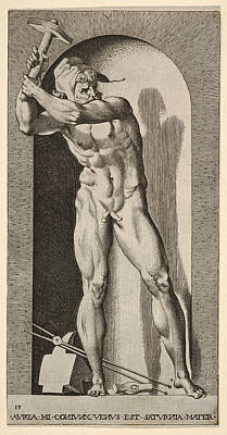 Drawing - Vulcan by Giovanni Jacopo Caraglio