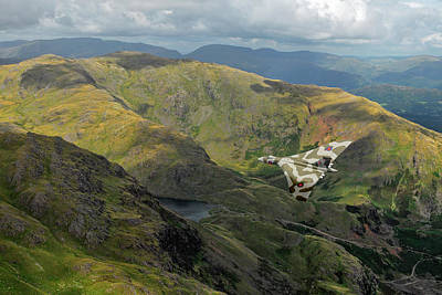 Photograph - Vulcan Low Level In The Lakes by Gary Eason