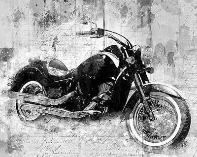 Motorcycle Mixed Media - Vulcan by Melissa Smith