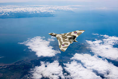 Photograph - Vulcan Over South Wales by Gary Eason