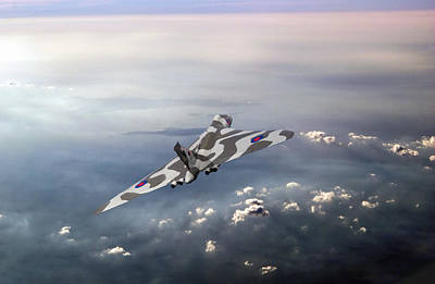 Digital Art - Vulcan Over The Channel Xh558 by Gary Eason