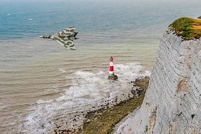 Photograph - Vulcan Passing Beachy Head by Gary Eason