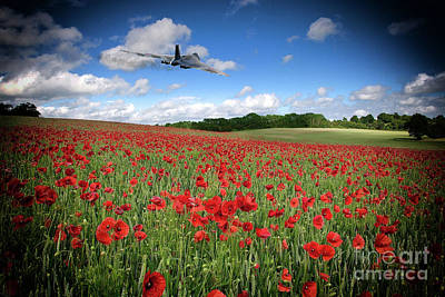 Poppies Field Digital Art - Vulcan Poppy Pass by J Biggadike