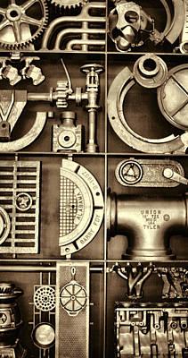 Vulcan Steel Steampunk Ironworks Art Print by Kathy Clark
