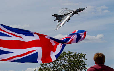 Photograph - Vulcan Xh558 Final Display At Riat by Ken Brannen