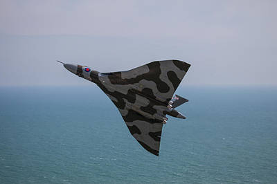 Photograph - Vulcan Xh558 Last Flight At Eastbourne  by Ken Brannen