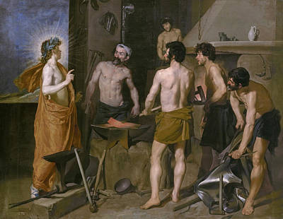 Vulcan Painting - Vulcan's Forge by Diego Velazquez