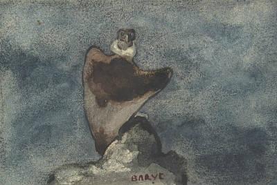 Drawing - Vulture by Antoine-Louis Barye