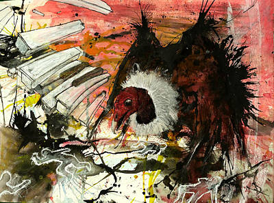Vulture Mixed Media - Vulture by Arvin Davis Jr
